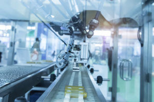 Robotics in an industrial production facility